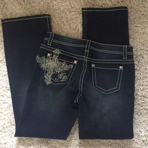 NWT Embellished Harley Davidson Jeans 10 tall